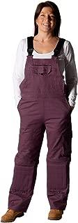 Rosies Womens Dungarees - Purple Ladies Work Overalls Eggplant Workwear