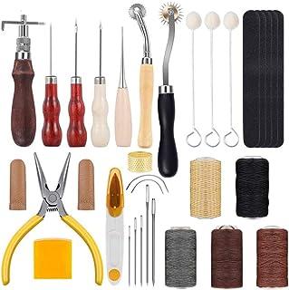 Kit de Gravure sur Cuir Trousse à Outils Bricolage Couture Cuir Artisanat Trousse à Outils en Cuir Outils De Couture en Cu...