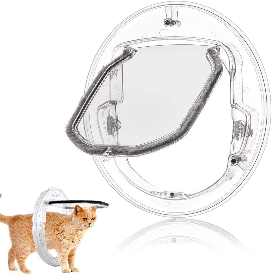 YOUTHINK Cat Flip Door White Sliding Max 43% OFF Locking Max 44% OFF Gla 4-Way