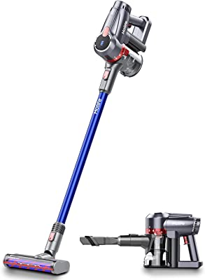 Holife Cordless Vacuum Cleaner, 20Kpa Powerful Suction 4 in 1 Stick Handheld Vacuum, 45Min Long-Lasting & 220W Brushless Motor Hand Dry Vac with LED Headlights for Home Carpet Hard Floor Car Pet Hair