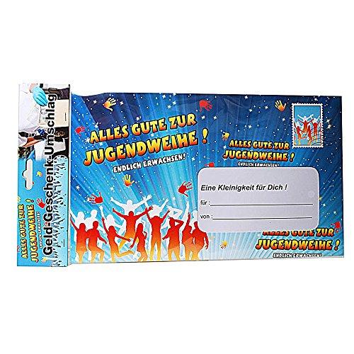 Riesen-Umschlag Alles Gute zur Jugendweihe für Geldgeschenke Pappe, ca. 18 x 30 cm