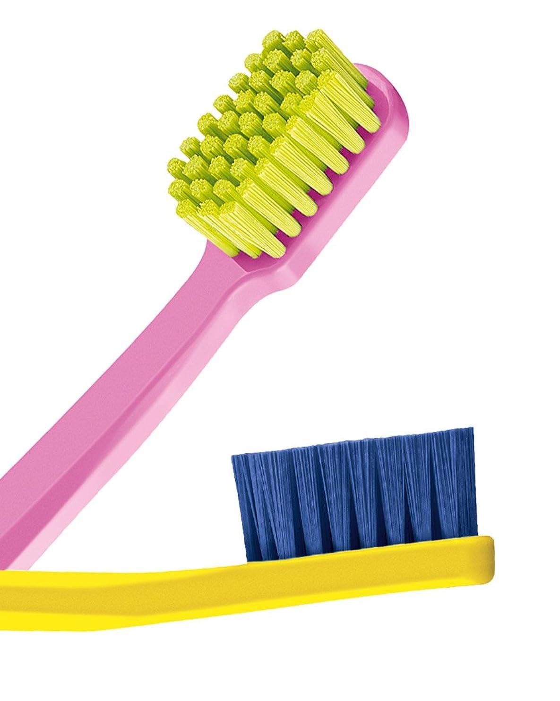 バルセロナいう気質Ultra soft toothbrush, 4 pack. Curaprox Ultra Soft 5460. Softer feeling & better cleaning, in super colours, for him & her. by Curaprox