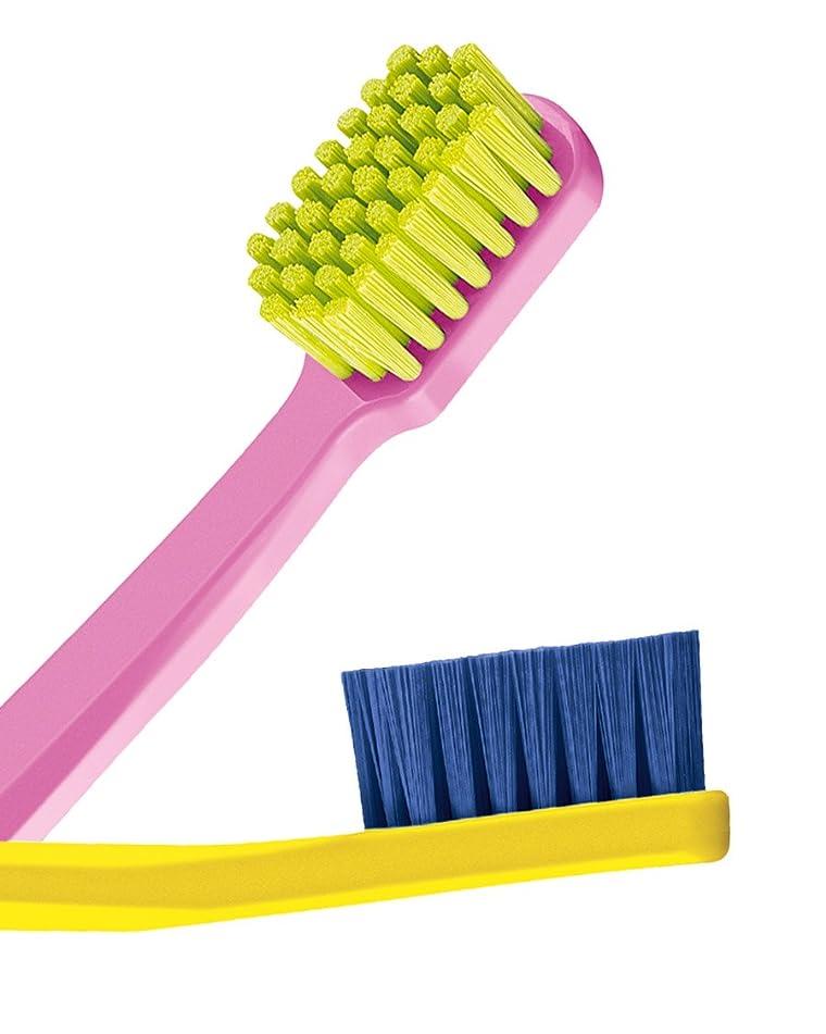 二行為発行Ultra soft toothbrush, 4 brushes, Curaprox 5460. Better cleaning, softer feeling in vibrant His & Hers colours. by Curaprox