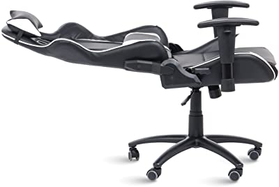 Office Pro Silla Gaming Silla de Escritorio Racing con reposacabezas Brazos Regulables.Silla de Oficina