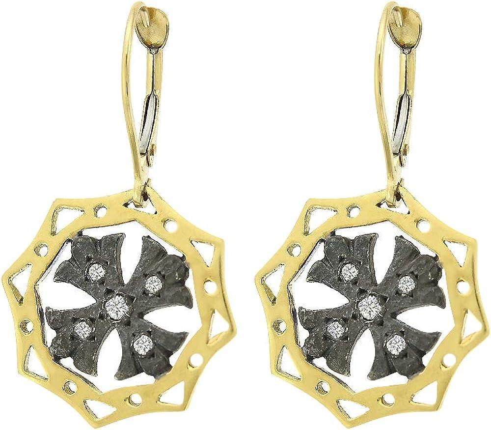 Diamond Accent Regular store Dangling XO-XO Sun Handmade Vintage Silv Earrings Virginia Beach Mall