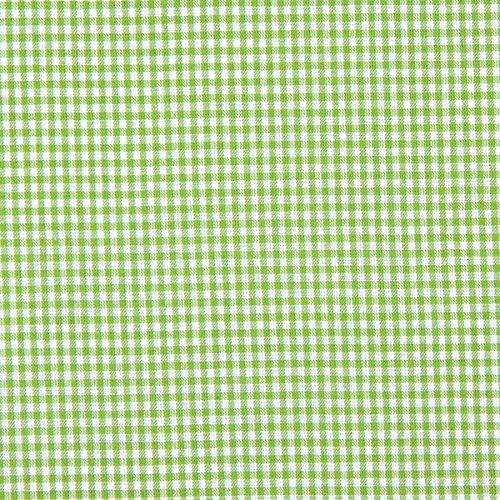 Baumwollstoff Vichy 0,2 cm – apfelgrün — Meterware ab 0,5m — STANDARD 100 by OEKO-TEX® Produktklasse I — zum Nähen von Kissen/Tagesdecken, Tischdekoration & Freizeitkleidung
