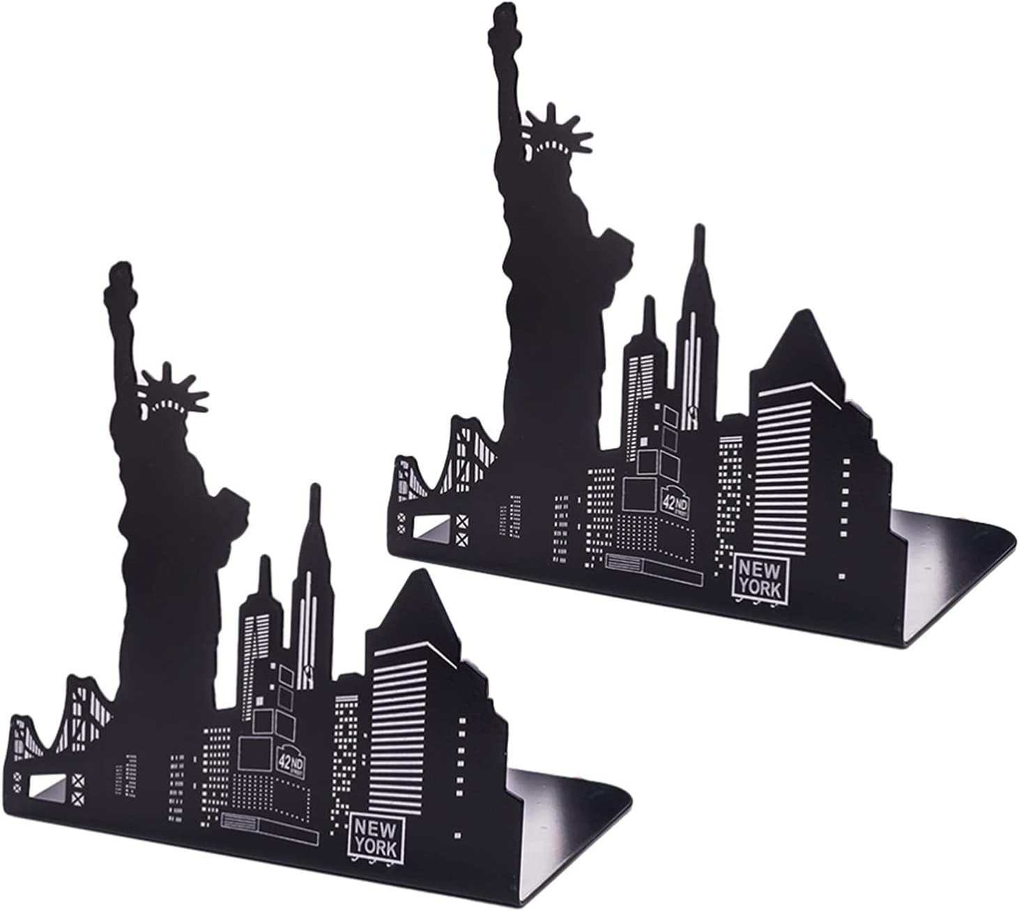 Super popular online shopping specialty store ZQDMBH Bookend Metal Bookends 1 Statue of Shape Pair