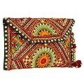 Ethnic Embroidered Hadmade Banjara foldover Clutch Purse-Sling Bag-Cross Body Bag