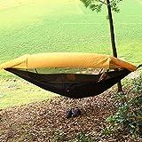 LANFENG Hamaca Acampar, Al Aire Libre Explorador De La Jungla 250' X 120' Hamaca Portátil De Doble Acampar con Mosquitera Extraíble Y Correa De Árbol,290cm145cm