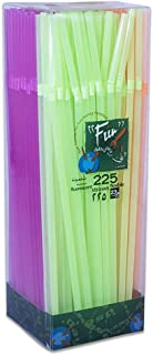 Fun® Everyday Disposable Flexible Plastic Straw, Assorted Colors, Pack of 225