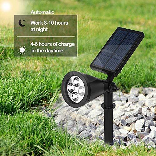 Sulida Solar Plant Grow Light Waterproof Auto On/Off 16 LED Plants Grow Lamp Bulbs for Outdoor/Indoor Plants Growing