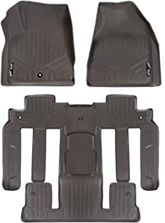 MAXLINER Floor Mats 2 Row Liner Set Cocoa for Traverse/Enclave / Acadia/Outlook (with 2nd Row Bucket Seats)