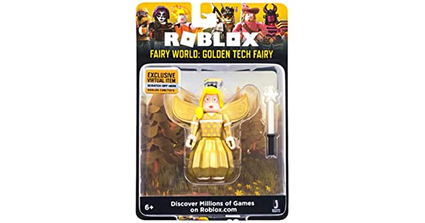 Roblox Fairy Roblox Fairy World Golden Tech Fairy 2 75 Inch Figure With Exclusive Virtual Item Code Amazon Sg Toys Games