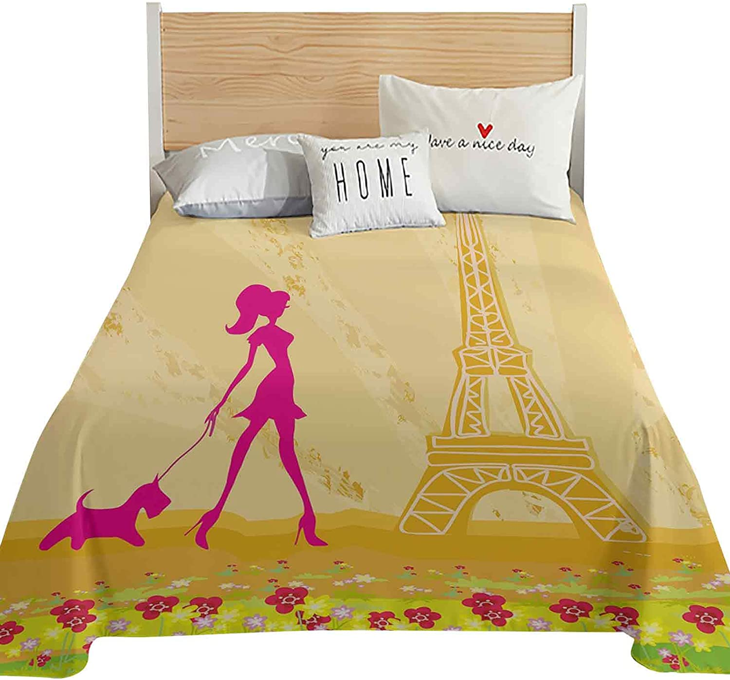Teen Room Decor Full Size Flat Silhouette Only Pink A Sheet Bombing Inventory cleanup selling sale free shipping of