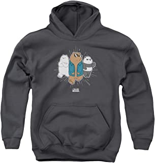 Trevco We Bare Bears Jacket Unisex Youth Pull-Over Hoodie for Boys and Girls