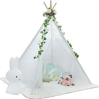 Tält För Tjejer,lektält För Flickor, Barn Tält Med Gardin Design, Tält För Barn, Barn Lek Tält För Sovrum, Vardagsrum, Bar...