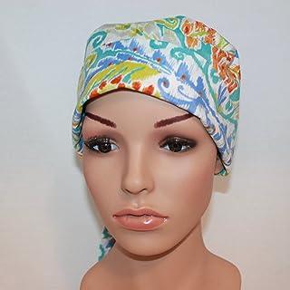 Surgical Chemo BIG HAIR Scrub Cap Swirly Bright Colors 815 Tie Dye