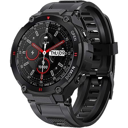 ANSUNG Relojes Inteligente Hombre,Smartwatch con Llamadas Pulsómetro,Presión Arterial, Monito de Sueño,Podómetro Pulsera Reloj Impermeable IP68 para ...