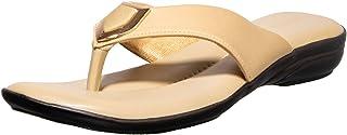 Khadims Women Red Casual Slip-On Sandal