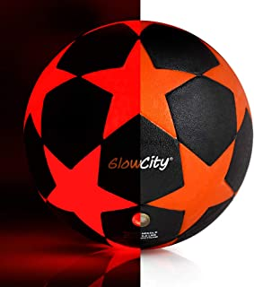 LED Star Soccer Ball – Size 5 Glow-in-the-Dark Kick Ball...
