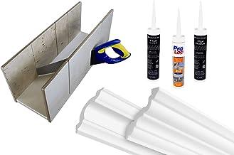 HEXIM O plafondlijsten ZG accessoires - voorgesneden hoeken, patroon, montagelijm, versteklade - (hoek NK-ZG1-15x15mm) sie...