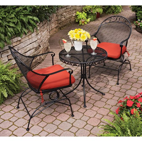 Better Homes and Gardens BHG Clayton Court Motion Outdoor Bistro Set in Red