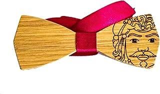 Papillon in legno - testa di moro - maioliche - sicilia