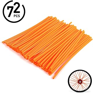 WINOMO 72pcs Spoke Skins Covers Motorcycle Wheel Rim Spoke Wraps Decor Protector Kit 4333024605