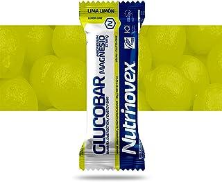 comprar comparacion Barrita energética Glucobar con vitaminas, minerales y aminoácidos, 1 paquete de 12 barritas - Lima limón