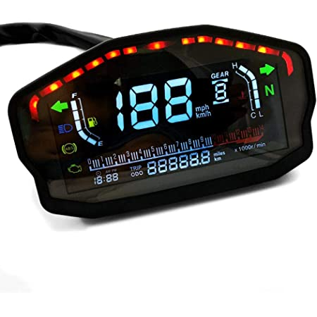 Digital Tachometer Für Yamaha Mt 125 Mt 10 Mt 03 Mt 01 Track Rxs Auto