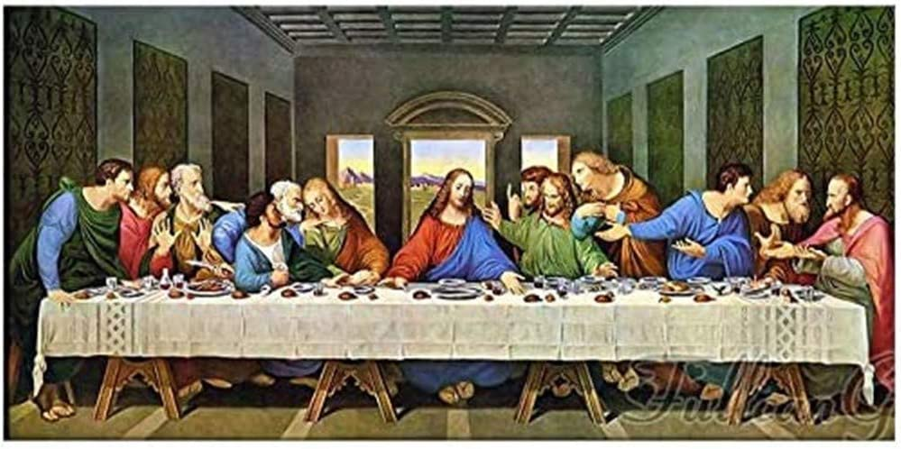5D Ranking TOP10 Diamond Painting Kit for Adults Square Drill The Supper Last Max 53% OFF