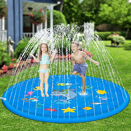 Hotdor Sprinkle & Splash Play Mat 68' Sprinkler...