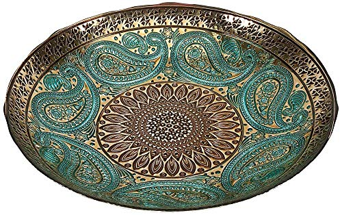 Imax Paisley Glass Bowl – Decorative Bowl with Elegant Design, Food Safe, Graceful Motif. Decorative Accessories