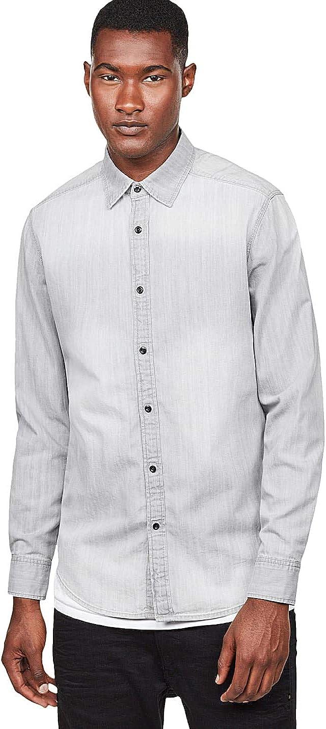 G-STAR RAW Landoh Clean Shirt L/S Camisa Vaquera para Hombre