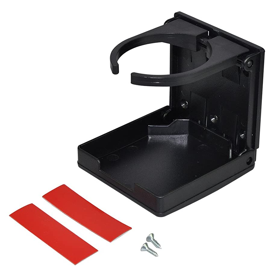 Camco Adjustable Drink Holder- Can Hold Mugs, Large Drinks and Almost Any Size Bottle or Can, Make Great Extra Cupholders for Cars, Trucks, RVs, Vans, Boats and Much More - Black (44044)
