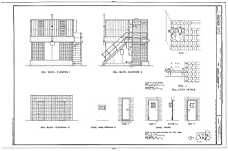 Historic Pictoric Blueprint Diagram HABS ARK,48-CLAR,1- (Sheet 8 of 8) - Old Monroe County Jail, Main & Kendall Streets, Clarendon, Monroe County, AR 12in x 08in