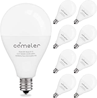 Kitchen 6 Pack Clear Glass LED Light Bulb Edison A19 8.3W 60W Dimmable Warm White 2700K E26 Base Filament Bulb Vintage Daylight for Room