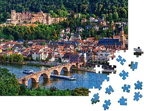 Clásico Puzzle Decoración Monumentos y hermosas ciudades de Alemania   Heidelberg medieval   rompecabezas clásico Wooden Jigsaw Puzzles Classic Rompecabezas de Juguete 300 piezas