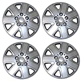 buick rendezvous hubcaps - TuningPros WSC3-026S16 4pcs Set Snap-On Type (Pop-On) 16-Inches Metallic Silver Hubcaps Wheel Cover