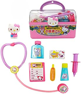 Hello Kitty Doctor Set with Case and Various Equipment (Japan Import)