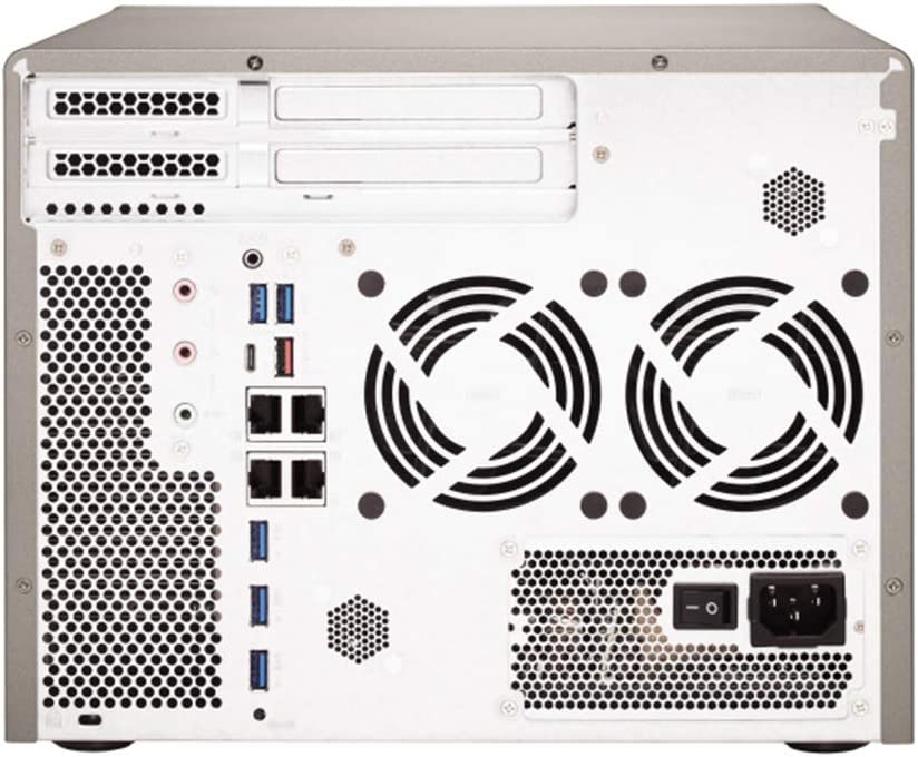 QNAP TS-877 NAS Server Including iSCSI Target Support RAID AMD Ryzen 5 6 Core 3.2GHz CPU 12TB HDD 32GB DDR4 RAM QTS 4.3 Operating System 1TB SSD
