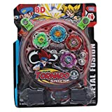ROYALS 4 Beyblade, 2 Ripchord Launcher and Battlefield Set (Random Color)