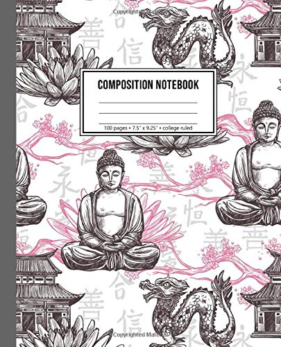 Composition Notebook: Japanese Buddha Notebook