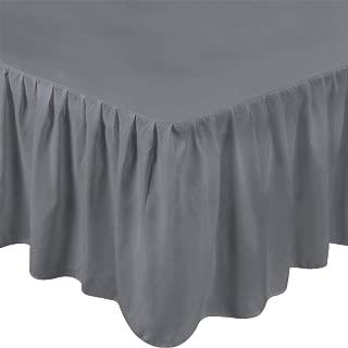 Utopia Bedding King Ruffle Bed Skirt,16 Inch Drop (Grey)