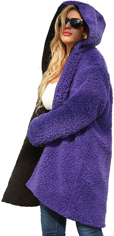 Womens Greatwear Laimeng_World Womens Ladies Warm Artificial Wool Coat Dichroic Jacket Winter Parka Outerwear
