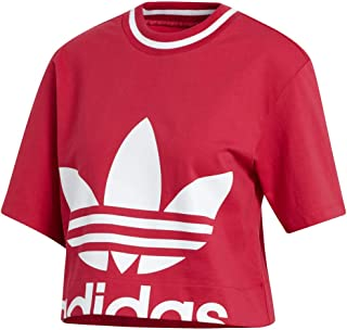 adidas Originals Women's Cropped Tee, Energy Pink, X-Small