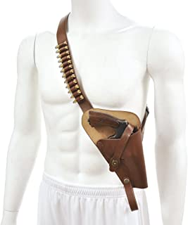 World War Supply M3 Victory Revolver Premium Brown Drum Dyed Leather Tanker Shoulder Holster with shell loops marked JT&L 1943 Holster Only