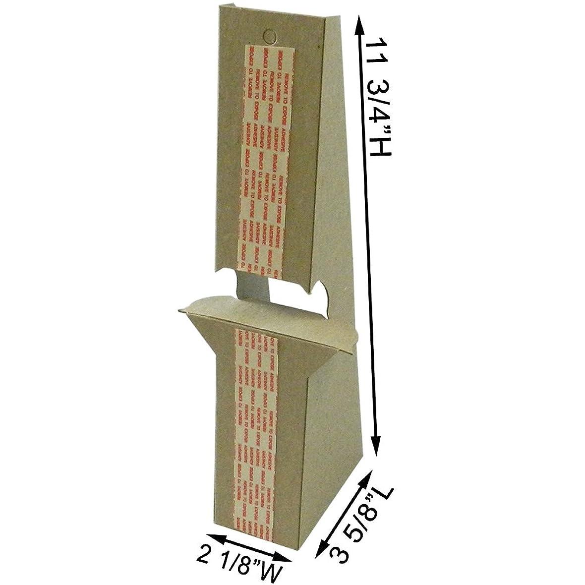 有益システム専門用語12インチ 粘着式クラフトイーゼルバック 頑丈 2倍の強度 最大14インチの高さのサインをサポート (25個パック)