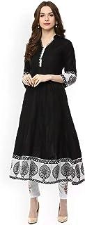 AnjuShree Choice Women's Cotton Anarkali Kurti