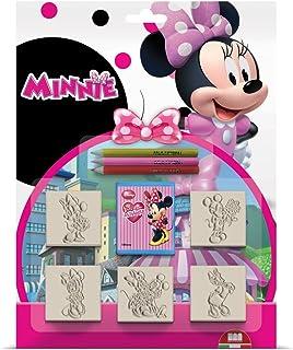 Multiprint Blister 5 Timbres Enfants Disney Minnie Topolina, 100% Made in Italy, Tampons Enfants Personnalisés, en Bois et...